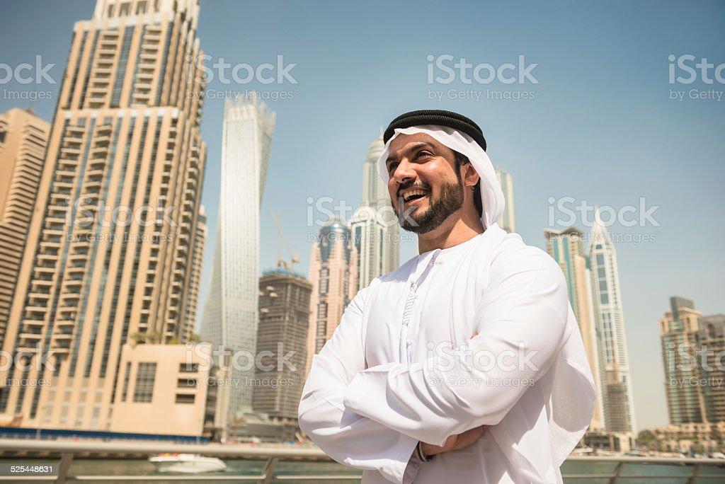 Fotografía de Árabe Sheik Retrato De La Sonriente En La Marina De ...