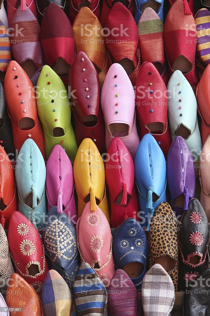 Arabic shoes royalty-free stock photo