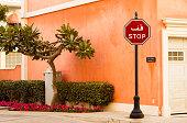 istock Arabic stop sign 1093743484