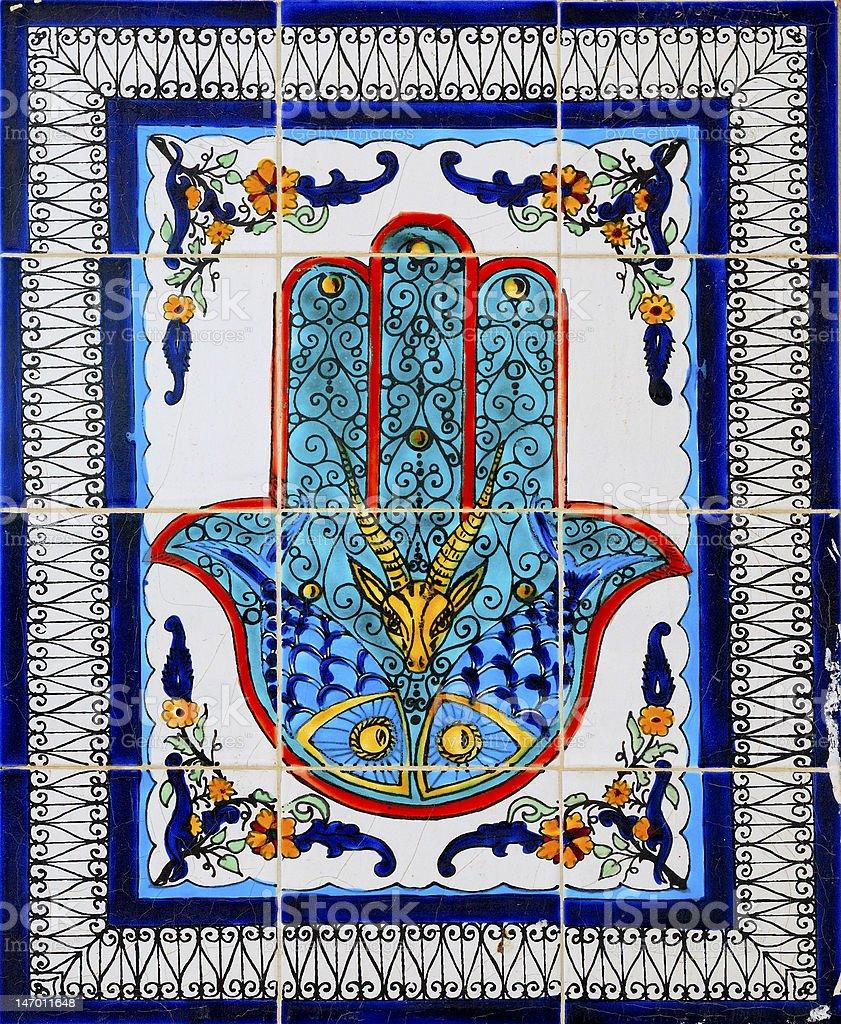 Arabic style ceramic wall decoration royalty-free stock photo
