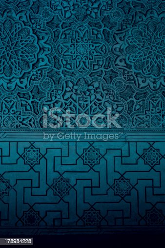 istock Arabic style ornaments in Alhambra 178984228