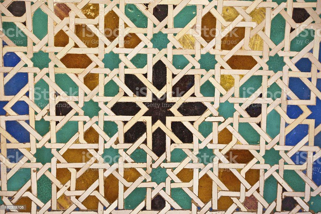 arabic tiles XXXL royalty-free stock photo