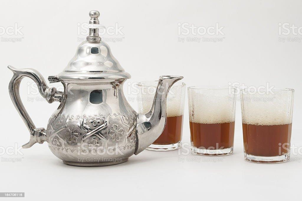 arabic traditional green tea royalty-free stock photo