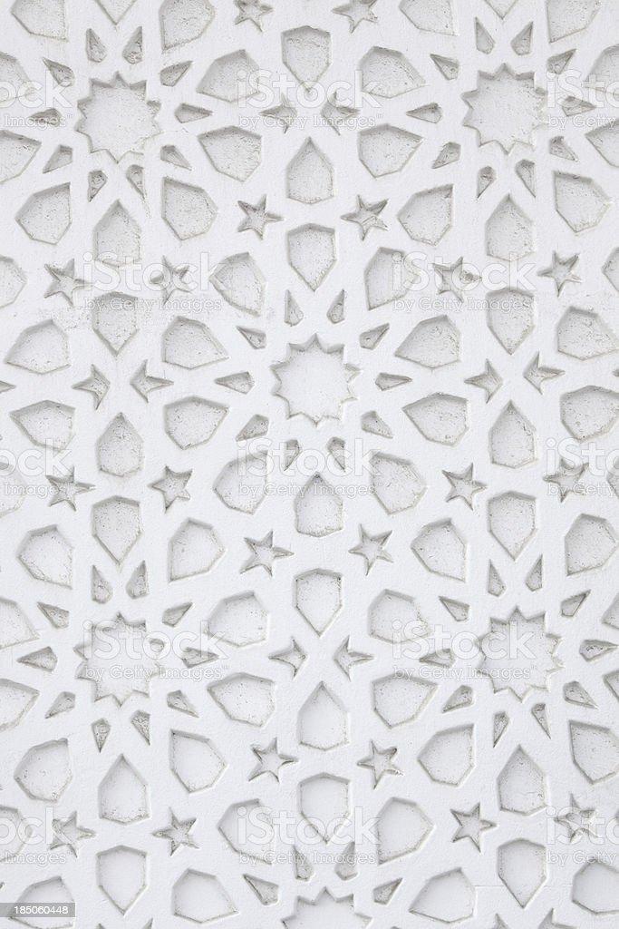 Arabic wall pattern stock photo