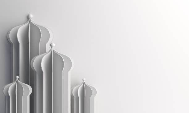 arabisches fenster oder moscheepapier auf weißem hintergrund geschnitten. - eid stock-fotos und bilder