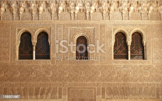 121178604 istock photo Arabic Windows in the Alhambra Palace 159301987