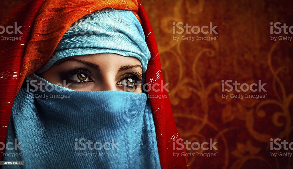 Arabic woman stock photo