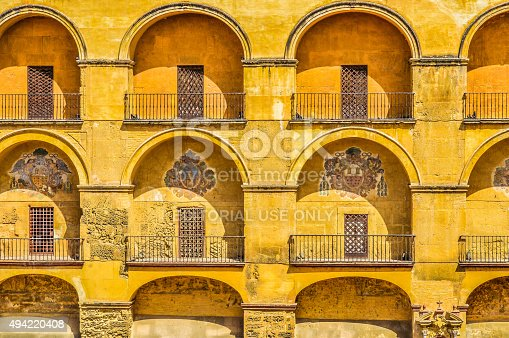 istock Arabic-style decor on old building 494220408
