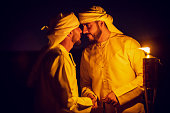 Arab's Customary Greeting