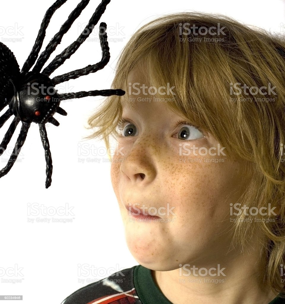 Arachnophobia stock photo