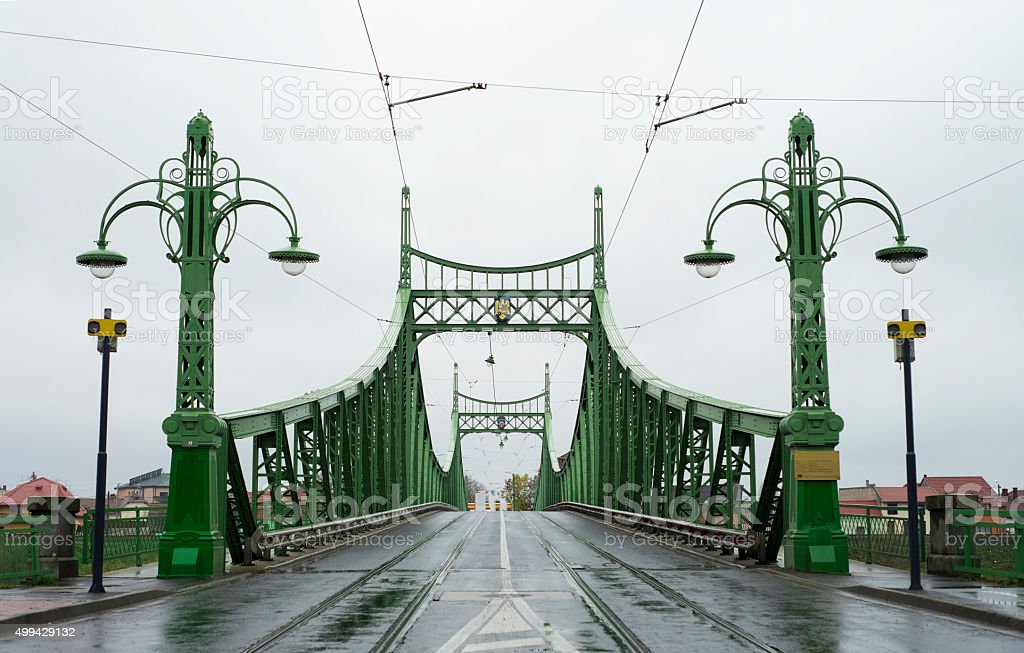 arad city bridge stock photo