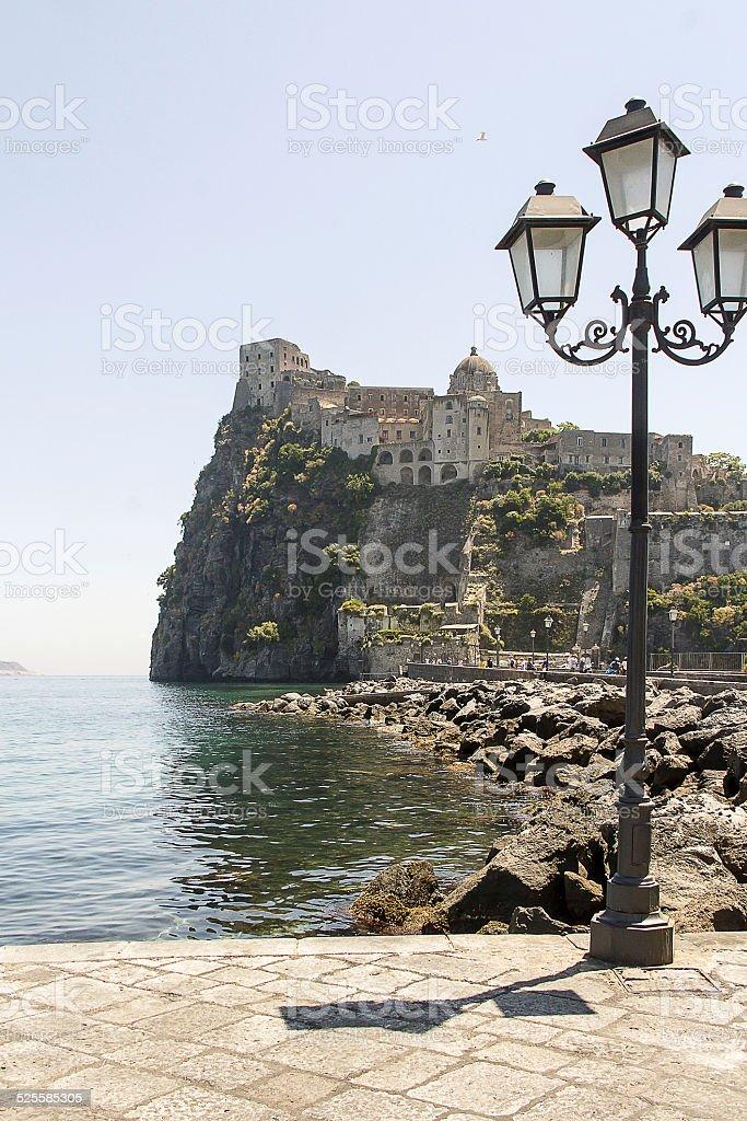 Aragon castle, ischia stock photo