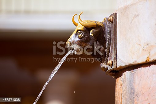 istock Aragon Teruel El Torico fountain in Plaza Carlos Castel Spain 467571036