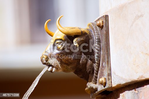 istock Aragon Teruel El Torico fountain in Plaza Carlos Castel Spain 467571038