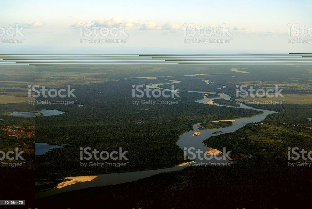 Araguaia River in Brazil stock photo