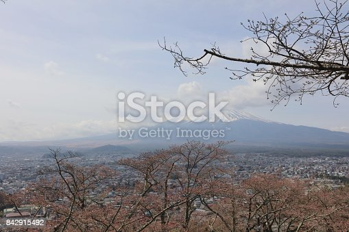 istock Arakura Sengen Shrine Chureito pagoda 842915492