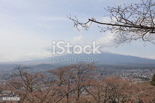 istock Arakura Sengen Shrine Chureito pagoda 842915528