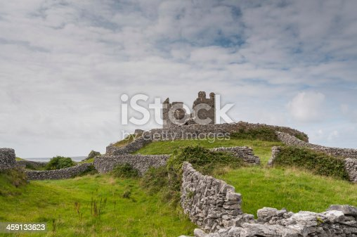 Castle on the top of the island Inisheer one of the aran island in Galway bay
