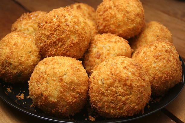 Arancini (Italian Rice Balls) stock photo