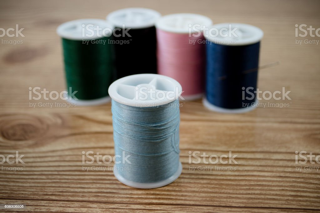 aranged thread stock photo