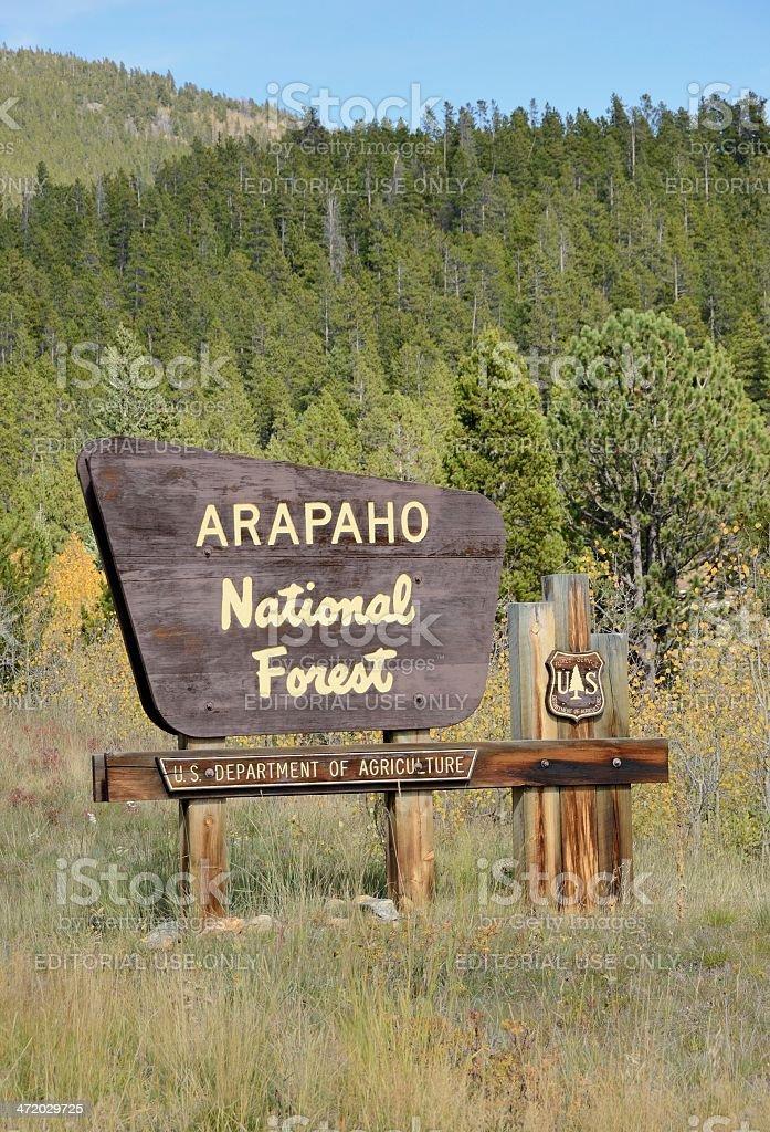 Arapaho National Forest stock photo