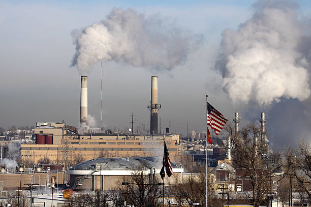 Arapahoe Station Coal fired power plant Denver Colorado stock photo