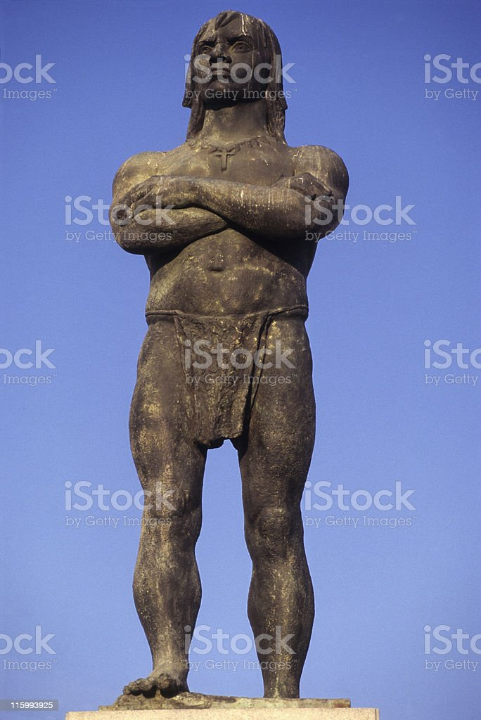 Arariboia statue in Niteroi royalty-free stock photo