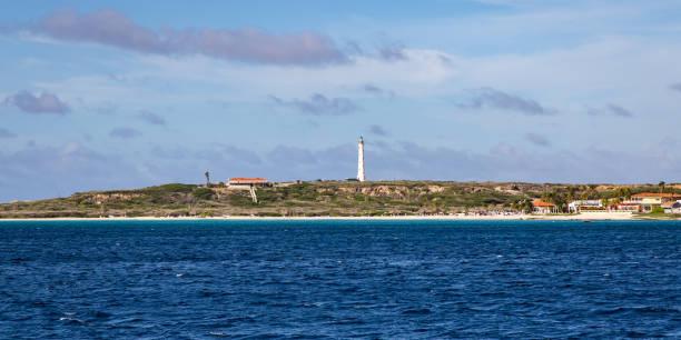 Arashi Beach and California Lighthouse stock photo