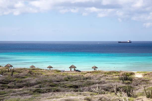 Arashi Beach, Aruba stock photo