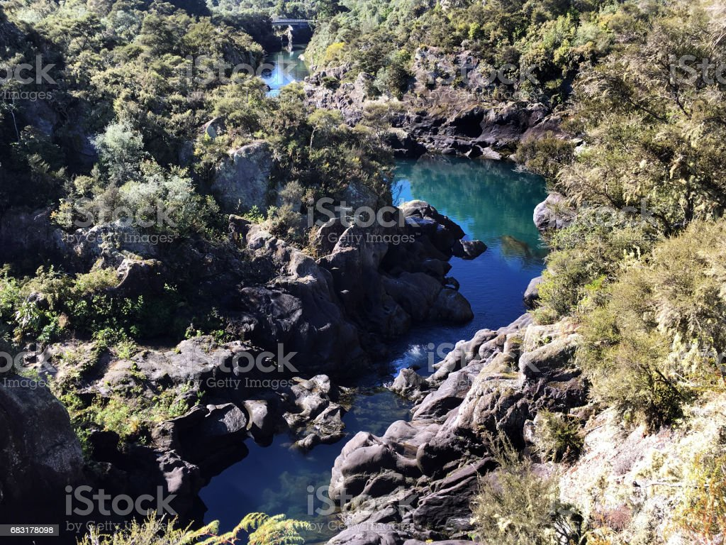 Aratiatia Rapids Waikato River New Zealand 免版稅 stock photo