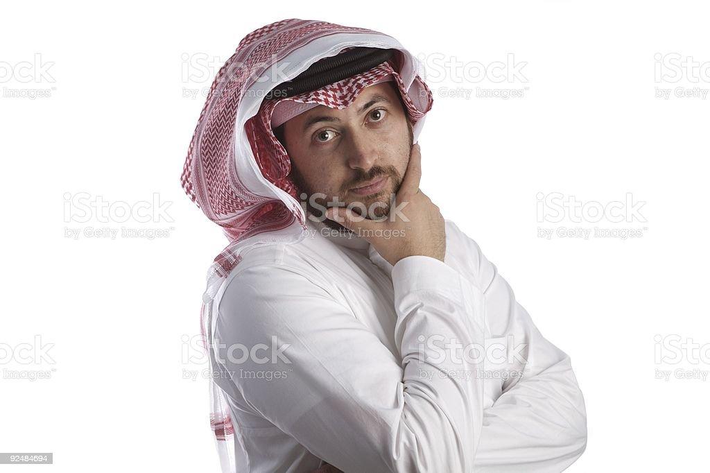 arbian businessman thinking royalty-free stock photo