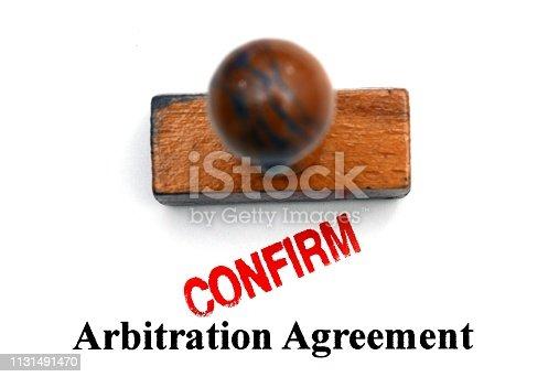 istock Arbitration agreement 1131491470
