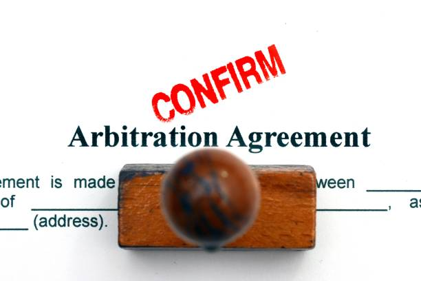 Arbitration agreement stock photo