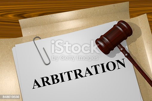istock Arbitration concept 848619536
