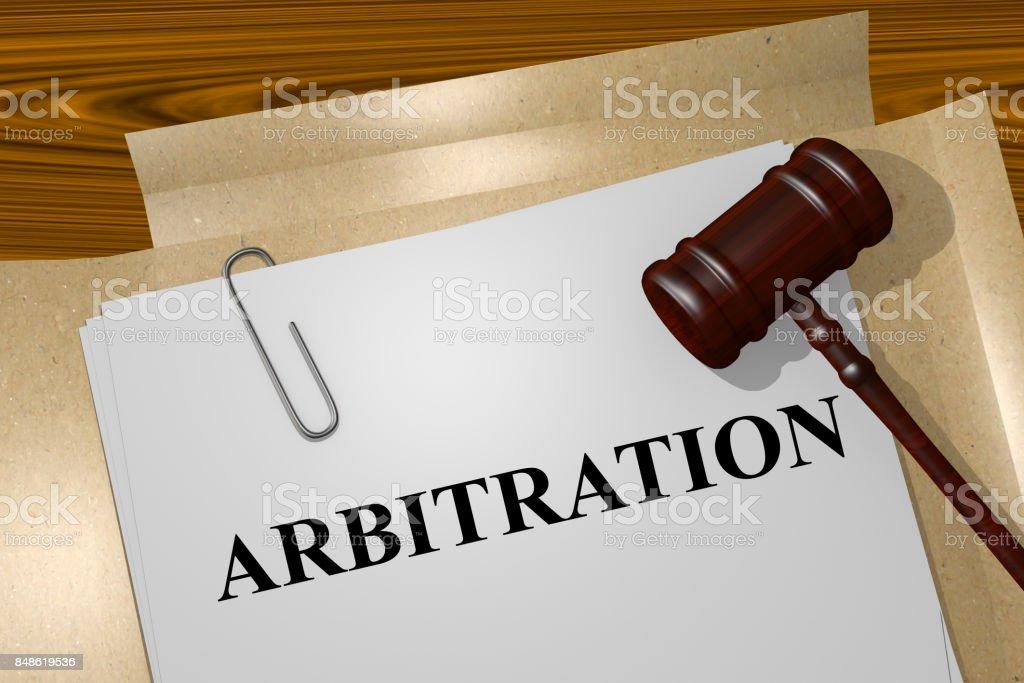 Arbitration concept stock photo