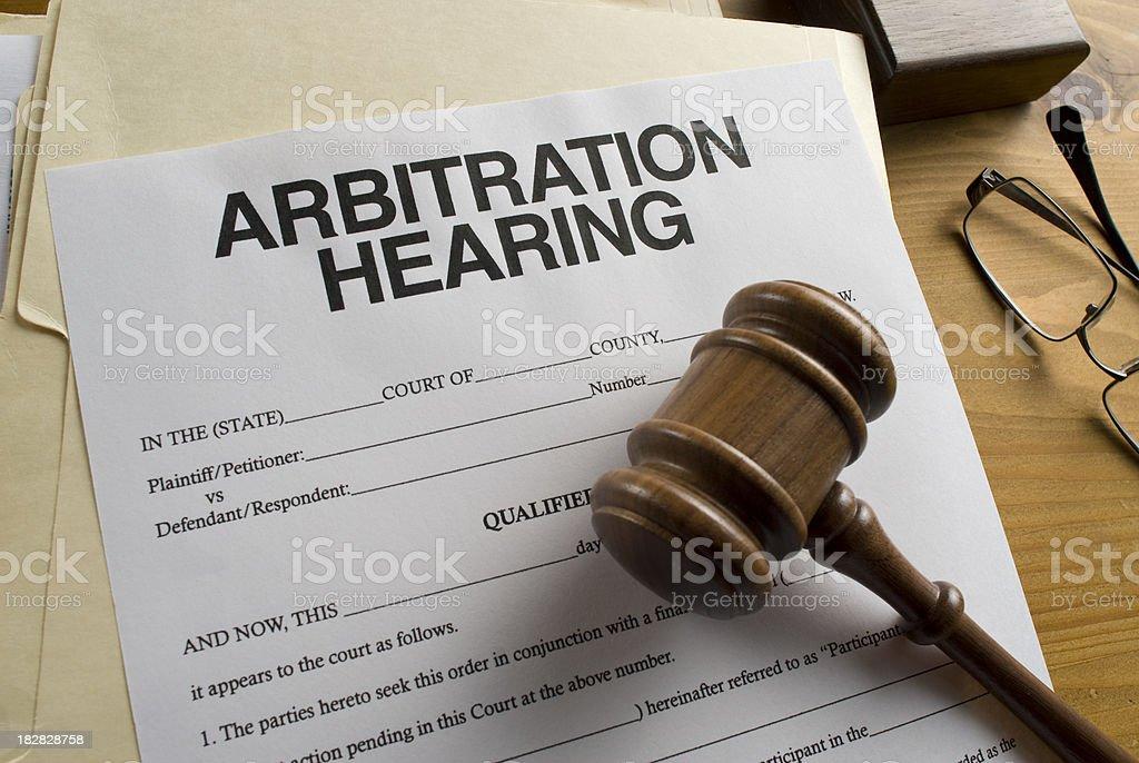 Arbitration Hearing stock photo