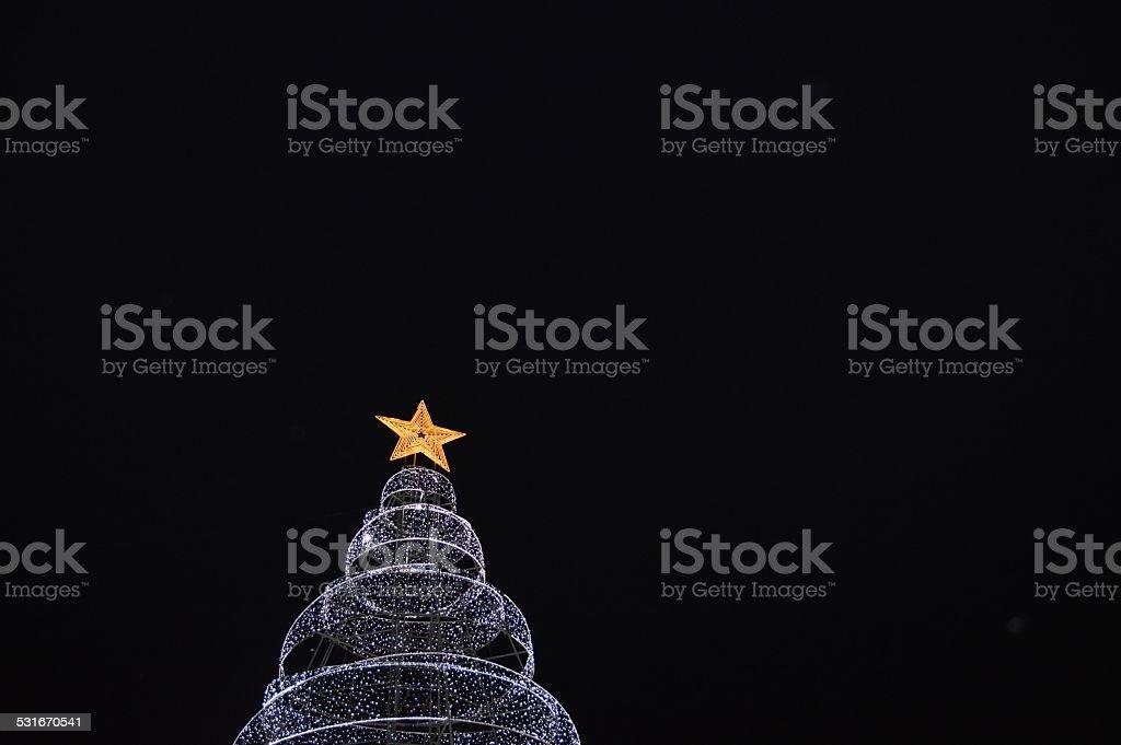 Arbol de navidad de luces stock photo download image now istock - Luces arbol de navidad ...