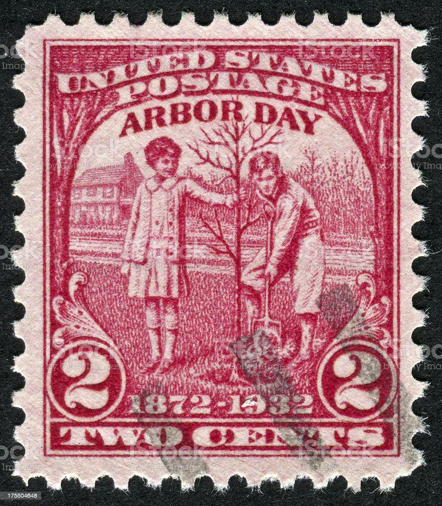 Arbor Day Stamp stock photo