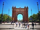 istock Arc de Triomf, iconic triumphal arc in Barcelona, Catalonia, Spain 1153631050