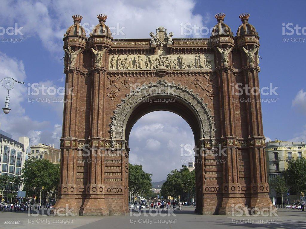 Arc de Triomph in Barcelona royalty-free stock photo