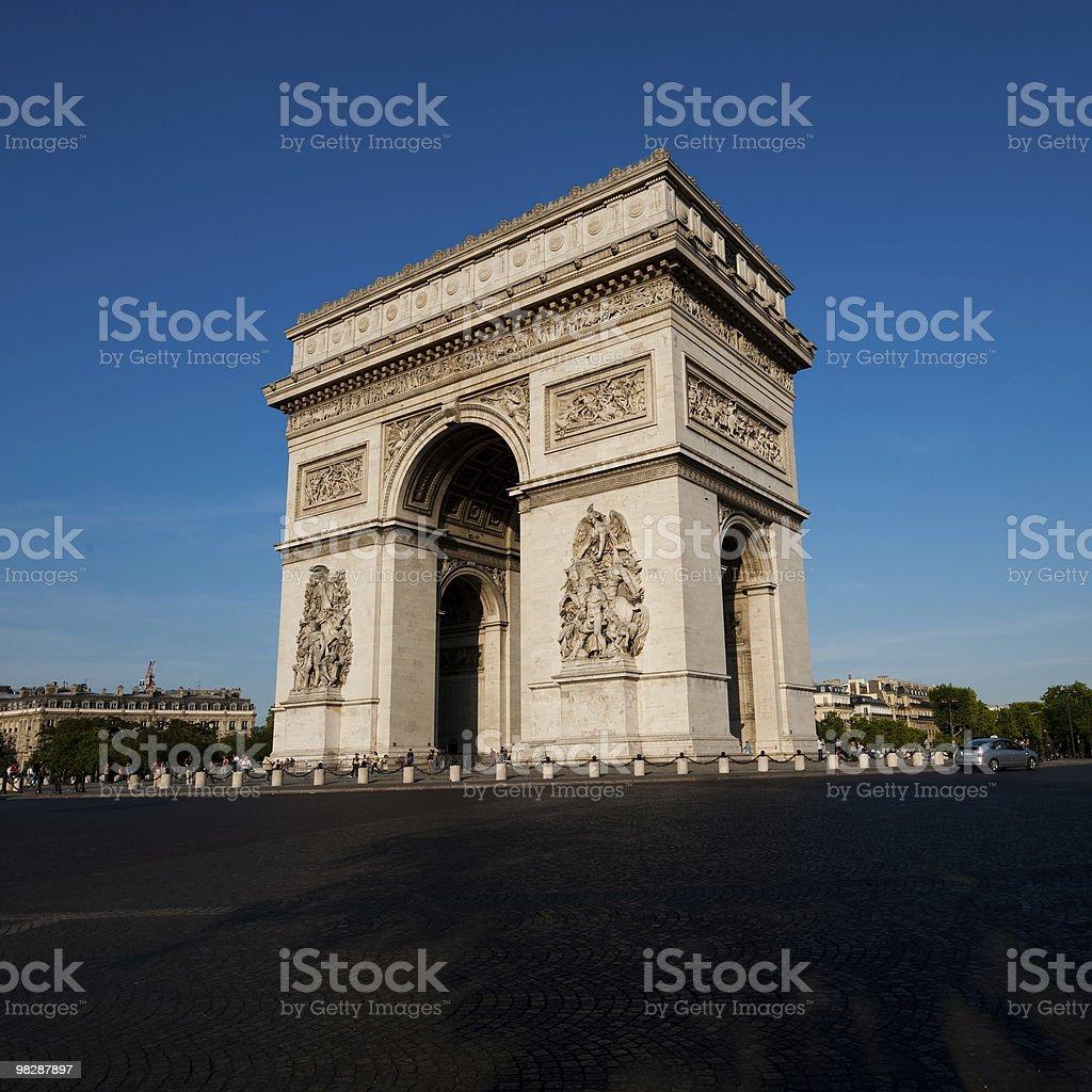 아크 드 Triomphe-궁형 of Triumph, 파리 royalty-free 스톡 사진