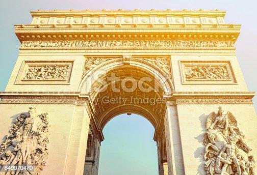 istock Arc de Triomphe - Arch of Triumph Paris - France 649970470