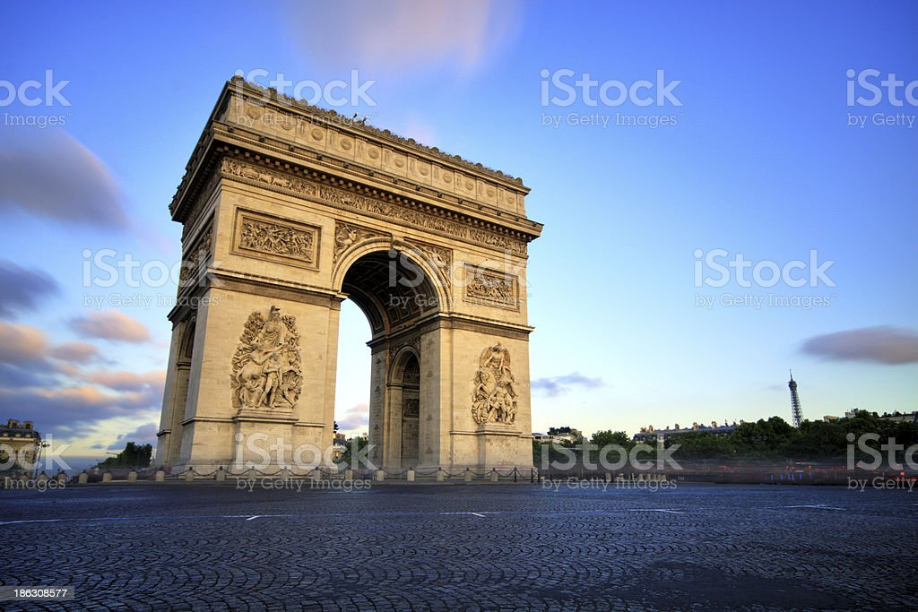Arc de triomphe at Sunset, Paris​​​ foto