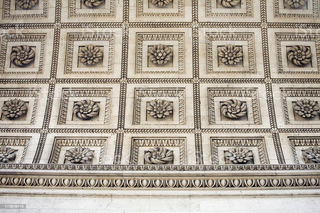 Arc de Triomphe ceiling details, Paris royalty-free stock photo
