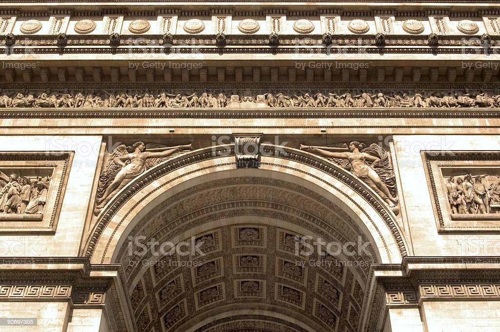 Arc de Triomphe - Ceiling Details royalty-free stock photo