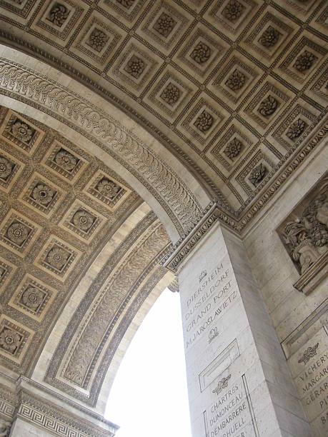 arc de triomphe ceiling - fsachs78 stockfoto's en -beelden