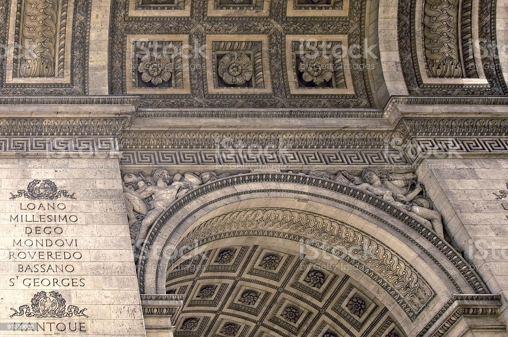 Arc de Triomphe - Ceiling royalty-free stock photo