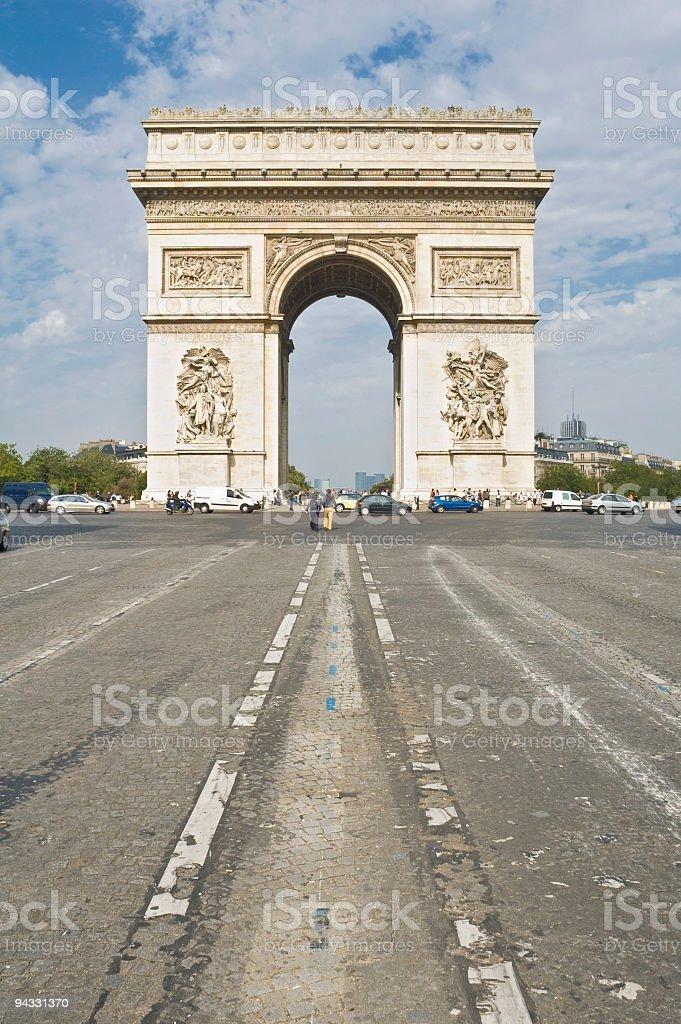Arc de Triomphe, Champs-Elysées, Paris royalty-free stock photo