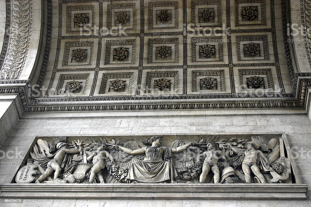 Arc de Triomphe detail royalty-free stock photo