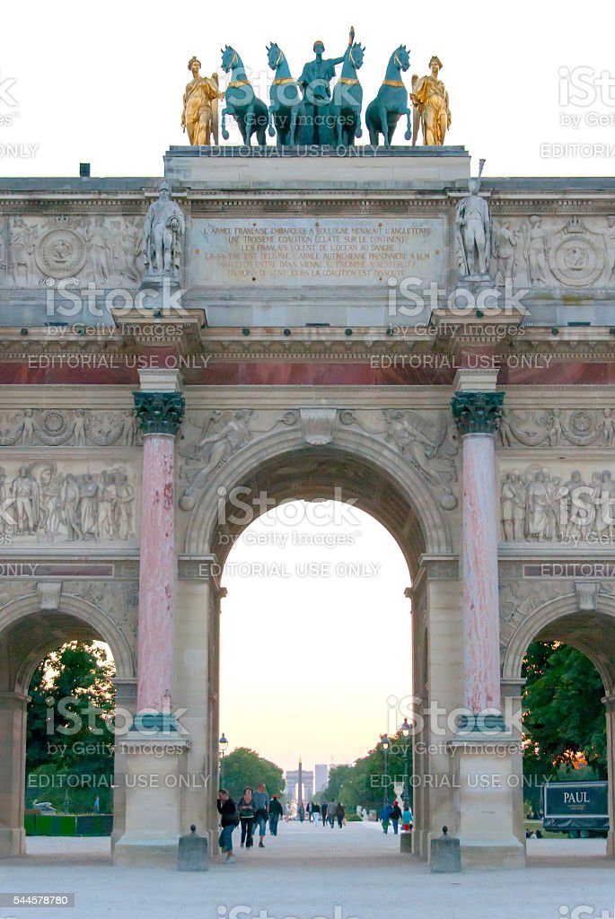 Arc de Triomphe du Carrousel at the Louvre III stock photo